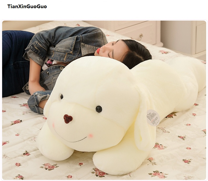 stuffed plush toy large 100cm cartoon prone dog plush toy soft doll sleeping pillow birthday gift s1023 stuffed animal lovely husky dog plush toy about 100cm prone dog doll 39 inch throw pillow sleeping pillow toy h889