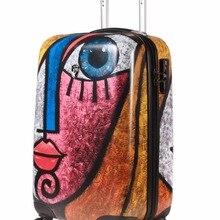 Фирменный чехол на колесиках, коробка для путешествий с рисунком маслом, таможенный замок, багаж для мужчин и женщин