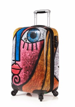 Brand trolley case PC oil painting trip box customs lock boarding box men and women luggage