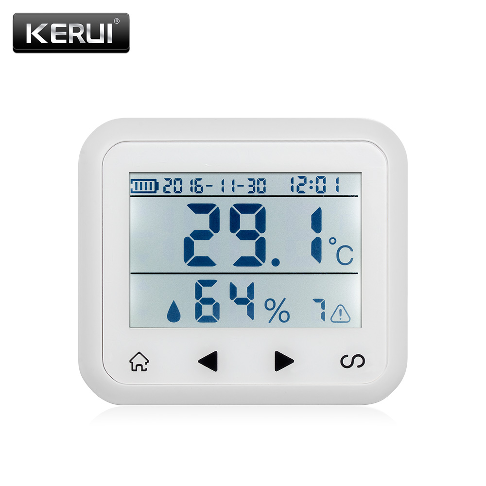 KR-TD32 wireless LED Display Adjustable temperature and humidity Alarm sensor Detector protect the personal and property safety. new wired temperature adjustable detector for all the alarm system low high temperature alarm function led display alarm sensors