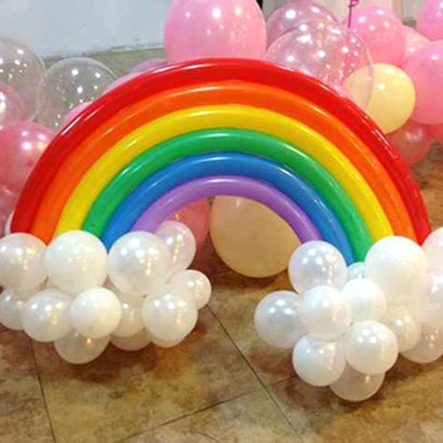 globos de ltex rainbow set party globos feliz cumpleaos globos decoracin del partido fuentes del partido