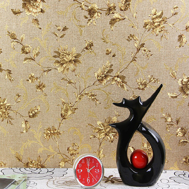 Luxury Floral Wall Paper Modern Embossed Gold Wallpaper For Walls Papel De Parede 3D Roll