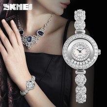 Skmei Watch 30M Waterproof Quartz movement Shell dial Glass mirror Classic Time Women s Fashion Luxurious