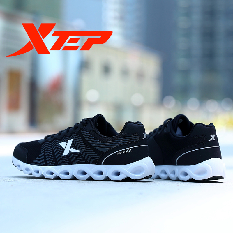 XTEP Brand Professional Running Shoes for Men LightWeight Air Mesh Breathable Men's Shoes Athletic Sport Sneakers 983119119066 2017brand sport mesh men running shoes athletic sneakers air breath increased within zapatillas deportivas trainers couple shoes