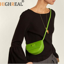 HIGHREAL Fashion Women Mini Saddle bag Waist Belt Bags For Girls Chic Vintage Purses Clutches Small Messenger Bag Lady Handbags