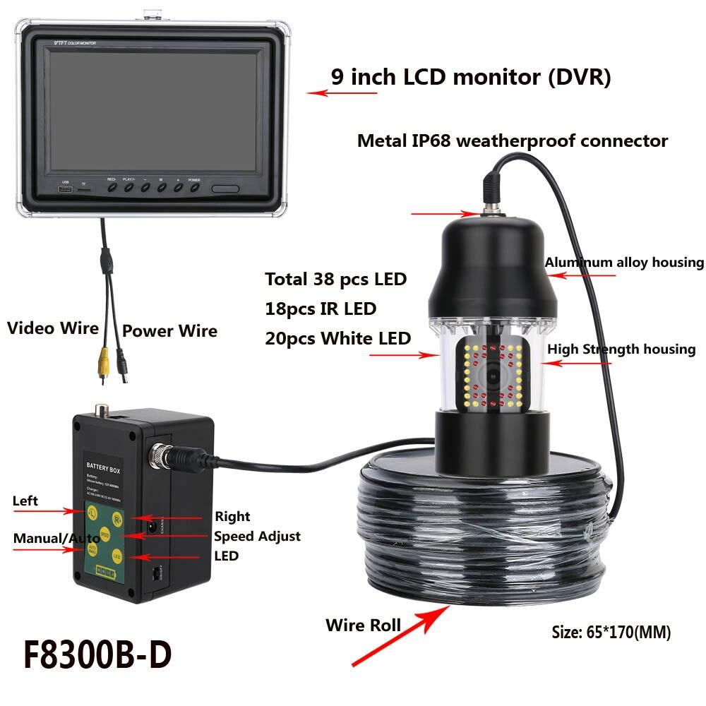 9 Polegada Gravador DVR 20 m Câmera