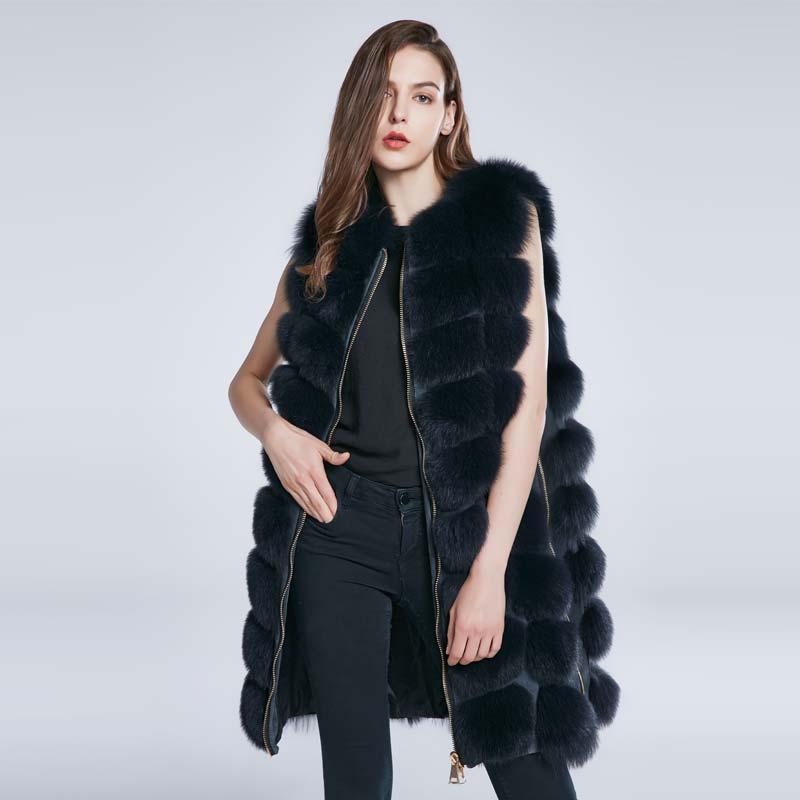 De Maigre New Long B A Femelle Manteau D'hiver Renard Col Réglable Sxv7adSwq