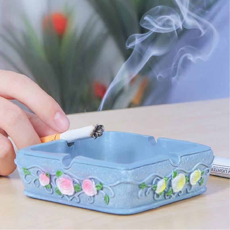 050 Household creative garden resin ashtray living room tea table decoration personalized ashtray Office simple ashtray in Ashtrays from Home Garden