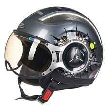MOMO Style Chopper Pilot Motorcycle helmet Capacetes Motociclismo 218a Cascos Para Moto Casque Motorhelm Open Face Helmets