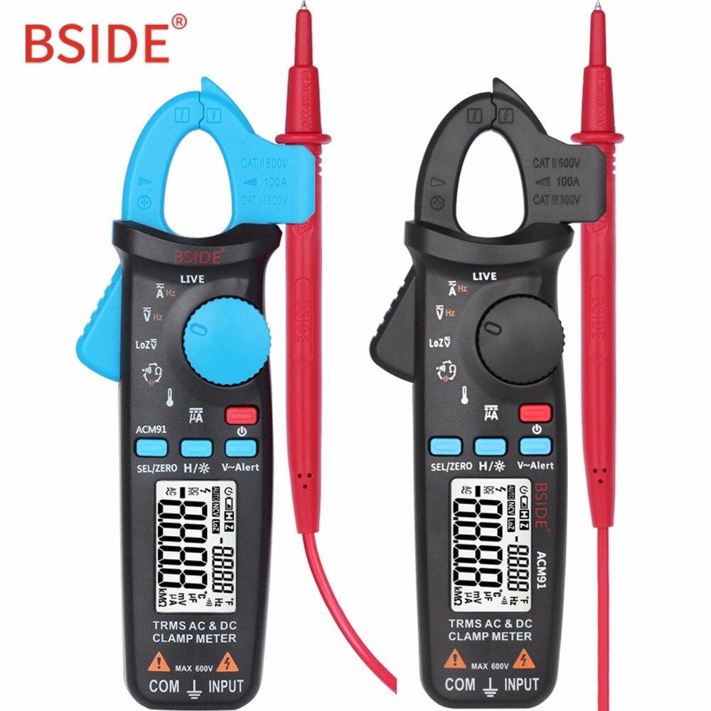 Numérique Pince Multimètre DC/AC 100A Actuelle Ampèremètre BSIDE ACM91 1mA Précision Auto-Gamme Multimètre Trms voltmètre Bette UT210E