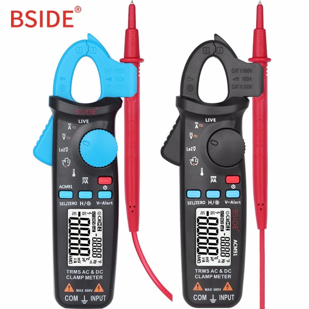 Numérique pince mètre DC/AC 100A Actuelle Ampèremètre BSIDE ACM91 1mA Précision Auto-True Range-RMS Multimètre Voltmètre bette UT210E
