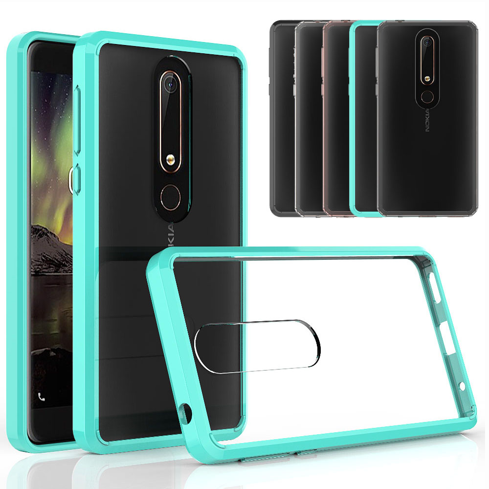 Ultra Thin Crystal Clear Case For Nokia 6 2018 Anti Scratch TPU & Hard PC Back Transparent Cover For Microsoft Nokia 6.1 (2018)