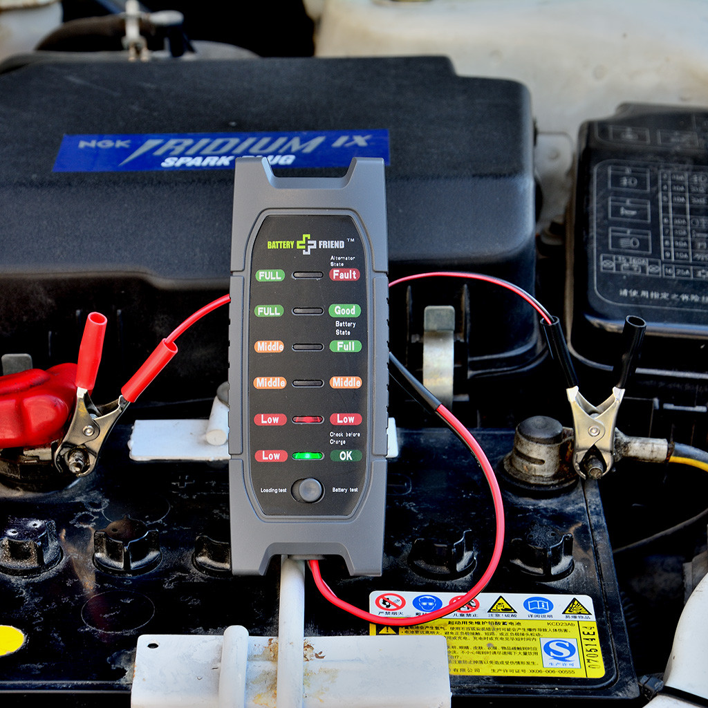 Carprie 12v Digital Battery Alternator Tester Car Diagnostic Tool With 6 Led Lights Display Battery Testers For Car Motorcycle # Home