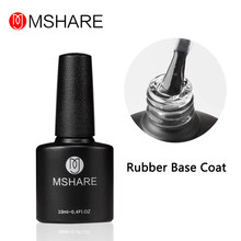 MSHARE Rubber Base Gel Coat Clear Thick UV LED Primer Gel Vernis Semi Permanent(China)