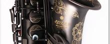 HOT SALE FREE SHIPPING EMS Haibo ryan saxe e alto saxophone musical instrument matt black pearl