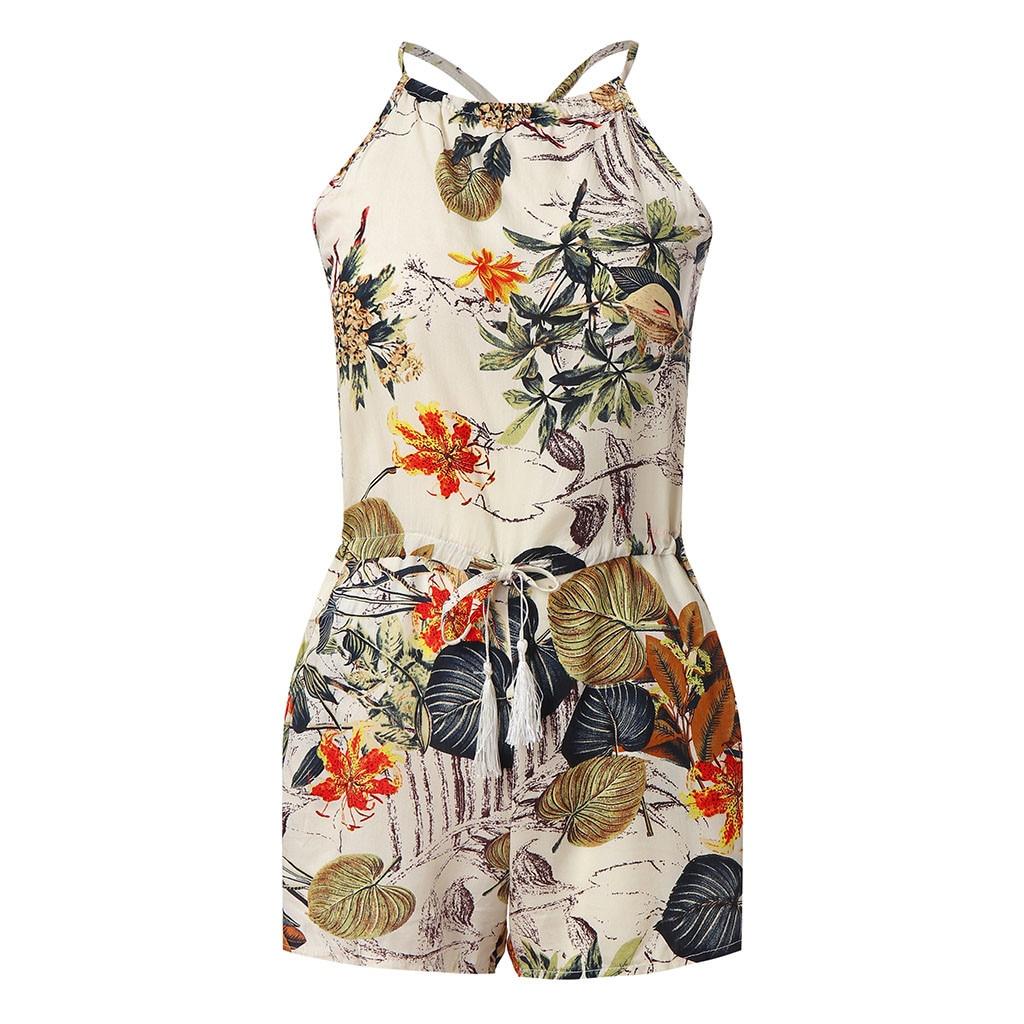 Summer Jumpsuit  Women Short Sleeve Sweet Style Floral Lace Playsuit Ladies Jumpsuit Shorts Romper #C