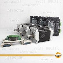 ACT Motor 3PCS Nema34 Stepper Motor 34HS1456B Dual Shaft 4 Lead 1232oz in 118mm 5 6A