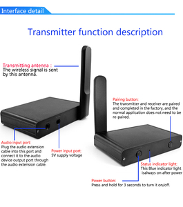 Image 5 - UHF Hifi Digital Wireless Audio Transceiver Adapter  Wireless Music Sound Transmitter Receiver With 3.5mm RCA Audio Cable