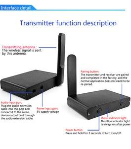Image 5 - Uhf Hifi Digitale Draadloze Audio Transceiver Adapter Draadloze Muziek Sound Zender Ontvanger Met 3.5 Mm Rca Audio Kabel