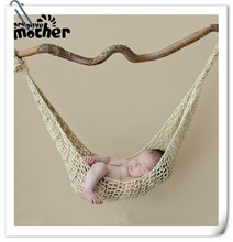 Creative Newborn Photo Props Hammock Wool Handmade Knit Hook String Bag Baby Photography Props Studio Fotografia Accessories dvotinst newborn baby photography props crochet knit wool eggshell basket filler fotografia accessories studio shooting props