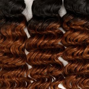 Image 5 - Rebecca Ombre Malaysian Deep Wave Bundles 1/3/4 Pcs Remy 2 Tone Color T1B/27# T1B/30# T1B/99J# 100% Human Hair Bundles