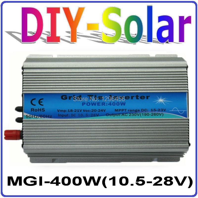 solar system 2017 New!! DC10.5~28V MGI 400W Grid Tie Inverter for Solar Panel 18V / 36 Cells, Pure Sine Wave Inverter 400W micro inverters on grid tie with mppt function 600w home solar system dc22 50v input to ac output for countries standard use