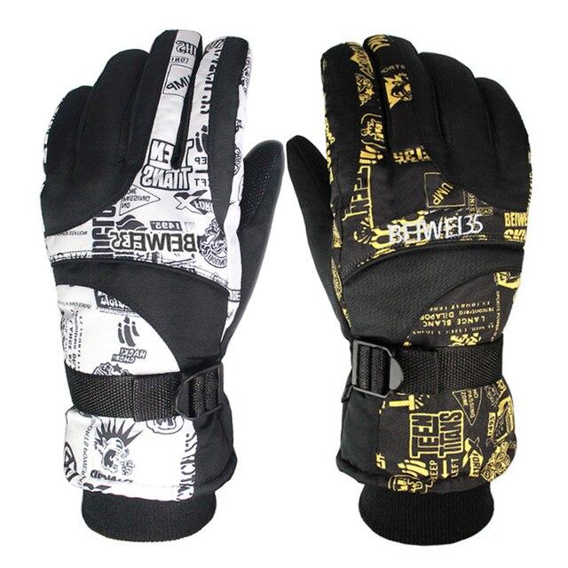 Зимние теплые ветрозащитные лыжные перчатки для спорта на открытом воздухе удобные мужские или женские сноубордические перчатки или лыжные перчатки