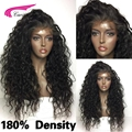 180 Density Full Lace Wigs Glueless Hair Wigs Peruvian Deep Curly Human Hair Wigs With Baby Hair For Black Women Lace Front Wig