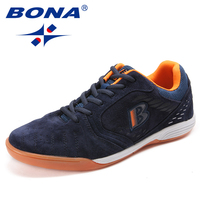 BONA New Arrival Classics Men Soccer Shoes Suede Men Athletic Shoes Outdoor Jogging Sneakers Comfortable Soft Fast Free Shipping