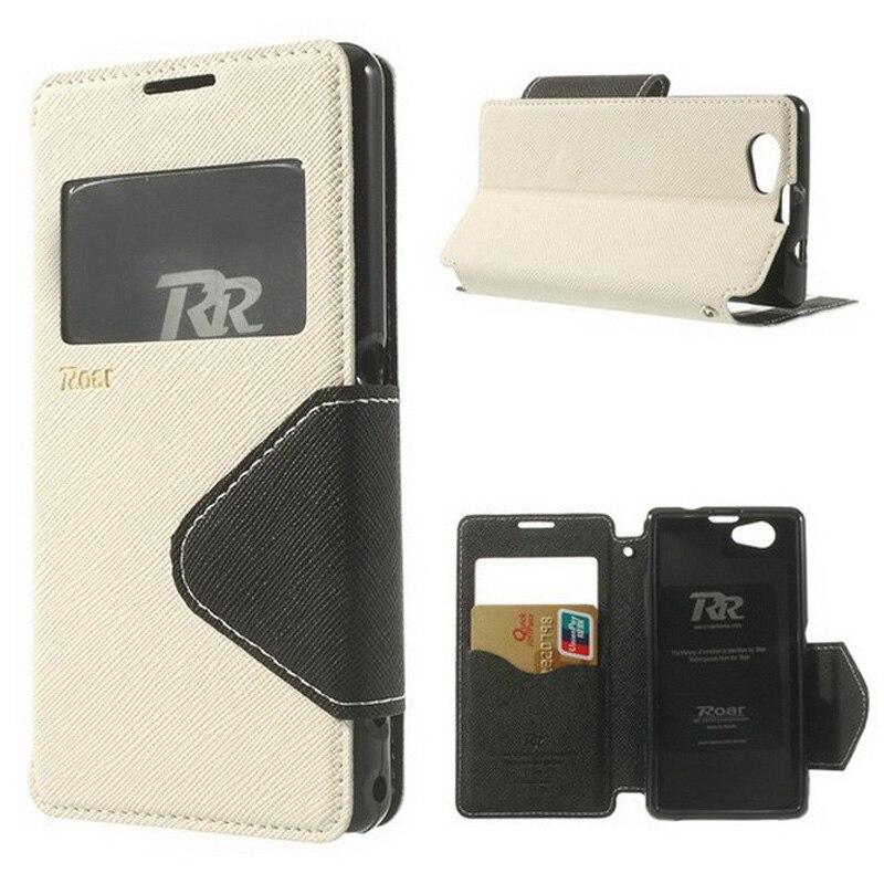 Para Sony Xperia Z1 caja compacta diario VER ventana Flip Funda de cuero para Sony Z1 compacto Z1 Mini D5503 m51W Phone Bag casos