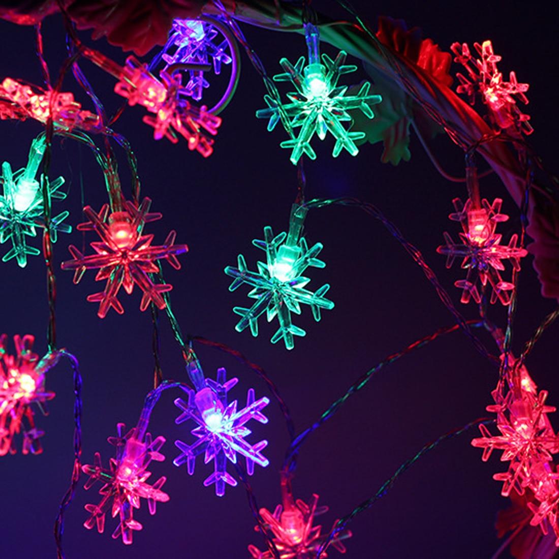 Amazing 1pcs Christmas Lights Outdoor 10m 100LED String Lights Garden Light for Home Wedding Party Decoration EU Plug