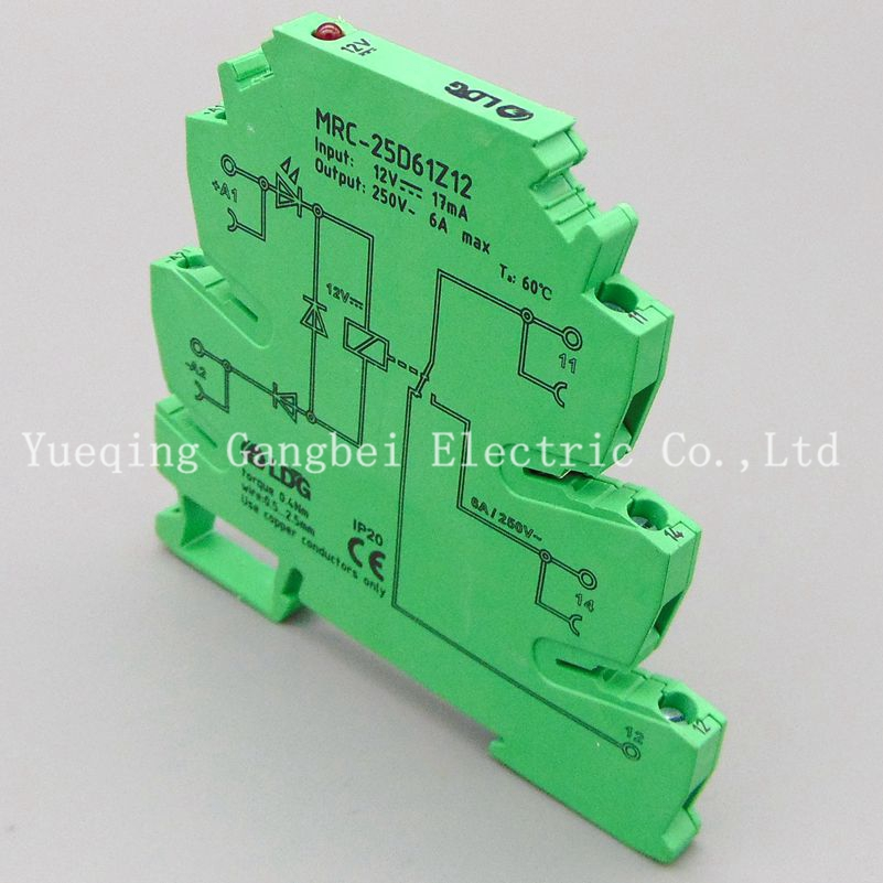 MRC-25D61Z12 DC12V PLC relay output amplifier board relay module ultra-thin relay module relay 12V