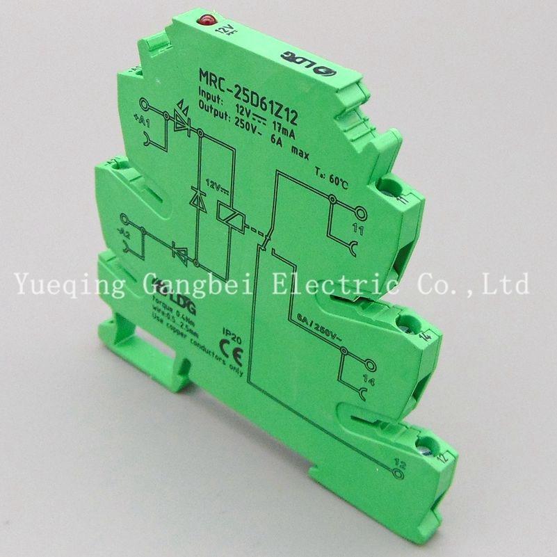 MRC-25D61Z12 DC12V PLC relay output amplifier board relay module ultra-thin relay module relay 12V