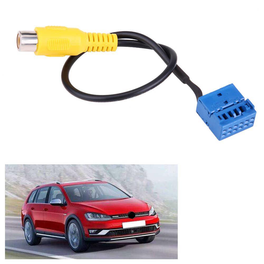 2 piècesCâble adaptateur de caméra de vue arrière de voiture pour VW Golf VI Jetta 5 6 MK5 MK6 Passat B6 Touran Tiguan avec MIB rcd330
