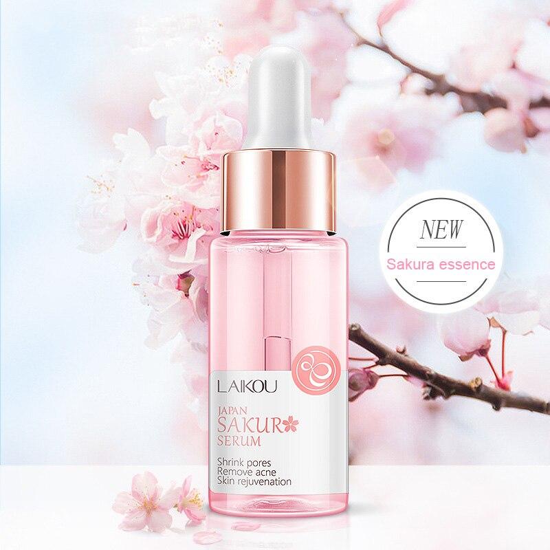 Sakura Extract Essence Shrink Pores Remove Acne Hyaluronatic Vitamin C Face Care @ME88