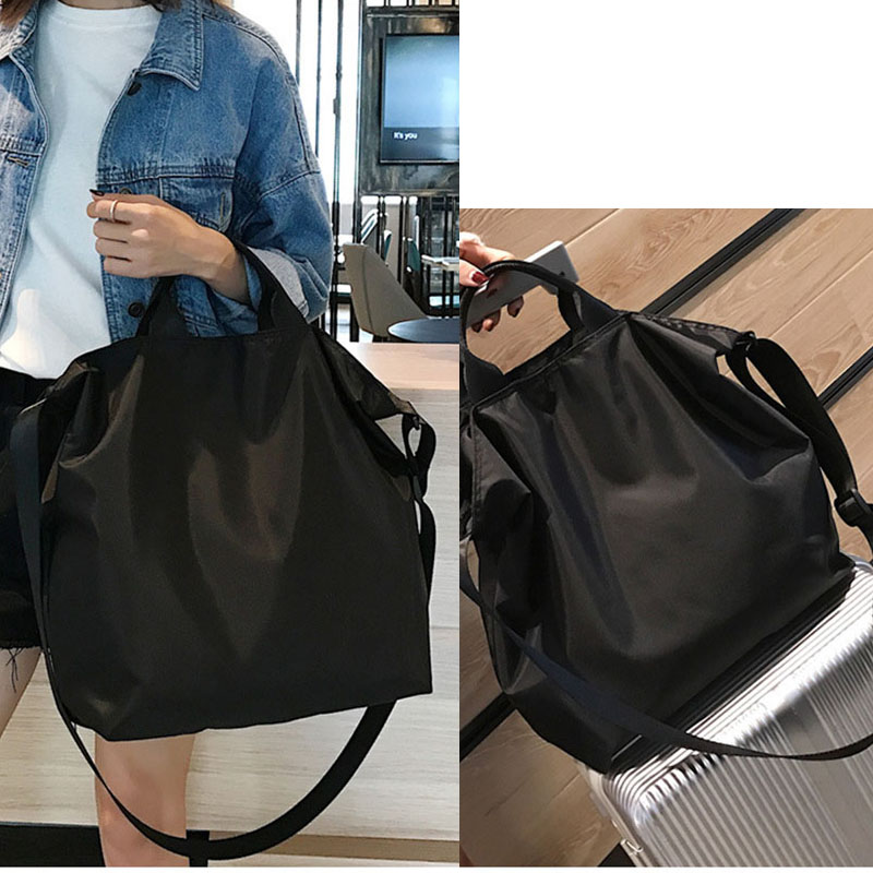 Wehyah Nylon Shopping bag Crossbody Bags for Woman Totes Hand Bags Big Capacity Clutch Bag Black Casual Women Handbags ZY049 in Shoulder Bags from Luggage Bags