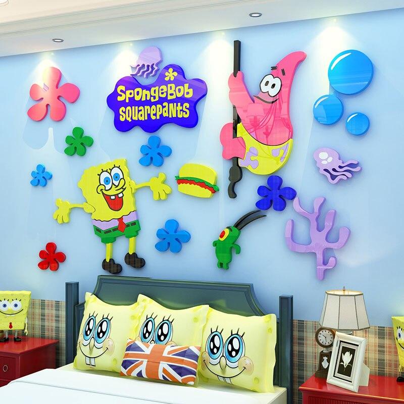 Cartoon Seaworld Acryl Wandaufkleber 3D Starfish Aufkleber Kindergarten Kinderzimmer  Dekorationen Interessante DIY Aufkleber