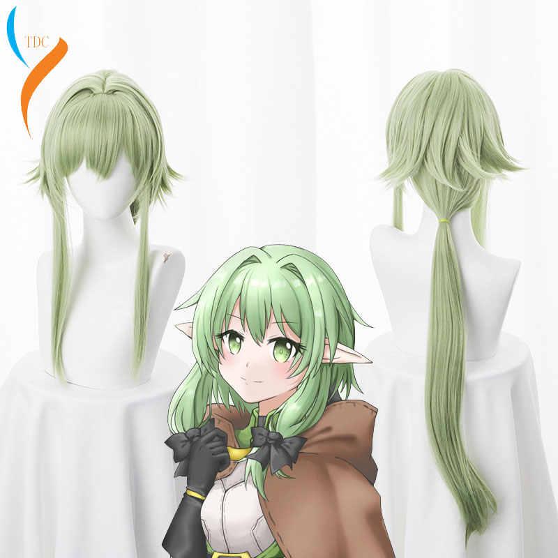 Cosplay Anime Goblin Slayer wysokiej Elf łucznik Yousei Yunde długa peruka Cosplay kostium kobiety syntetyczne odporne na ciepło włókien syntetycznych peruki z włosów