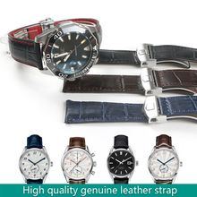 Watchband Genuine Leather Strap for Carrera Business Watchstrap Prestige 19mm 20mm 22mm Black Blue Brown Man Fold Buckle Tool real italy leather is directly from the italy 20mm black brown genuine leather watchband with original buckle watchstrap