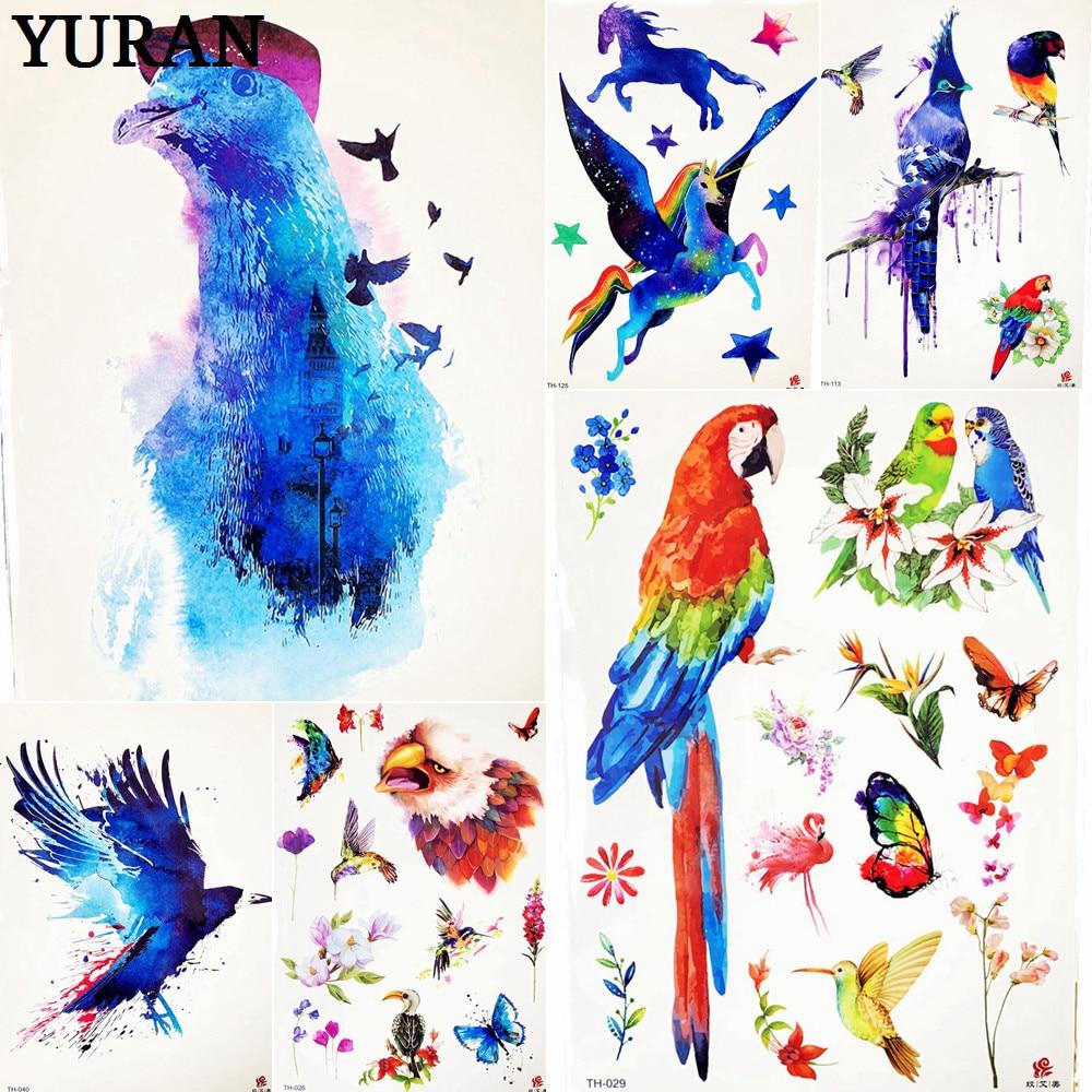 0c2f76877 Blue Bird Temporary Tattoo Sticker Butterfly Decal Women Body Art Fake Water  Trasnfer