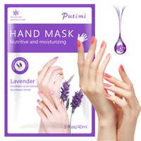 2 paar = 4 stücke Feuchtigkeitsspendende Hand Maske Handschuhe Lavendel Peeling Schälen Bleaching Maske für Hand Peeling Entfernen Abgestorbene Haut spa Handschuhe