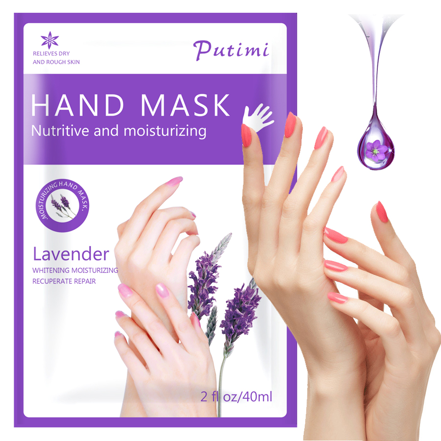 Lavender Hand Mask Wax Peel Hand Care Whitening Exfoliating Moisturizing Hand Mask for Hands Scrub Remove Dead Skin Spa Gloves