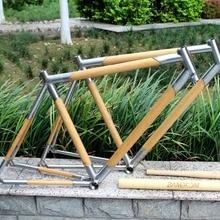 Xacd из титана и бамбука, рама для велосипеда из титана, комбинированная бамбуковая рама для шоссейного велосипеда, титановая рама для шоссейного велосипеда