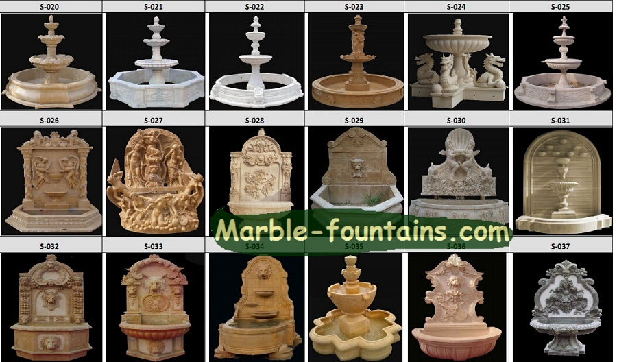 Wall Fountain Outdoor Garden Stone Water Basin  Hand Carving Limestone Fountain Wall Water Feature In Garden Buildings From Home Garden On