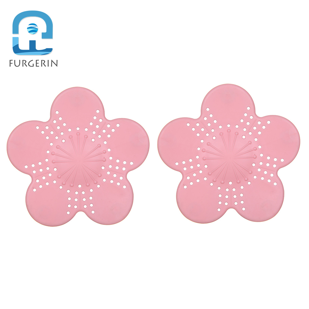 FURGERIN 2pcs Sink Hair Catcher kitchen sink accessories shower drain hair catcher Draining Filter Floor Drain Cover with Sucker