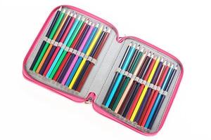 Image 4 - Kemila עמיד למים עט תיק 72 מחזיקי בצבע עיפרון שקיות גדול קיבולת נייד בצבעי מים לעטוף קלמר סמן אמנות סטודנטים