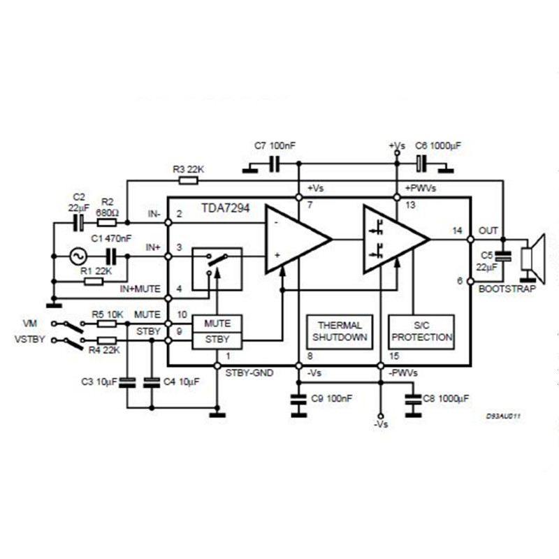 Free shipping DIY TDA7294 100W Subwoofer Amplifier Board Kit-in ...