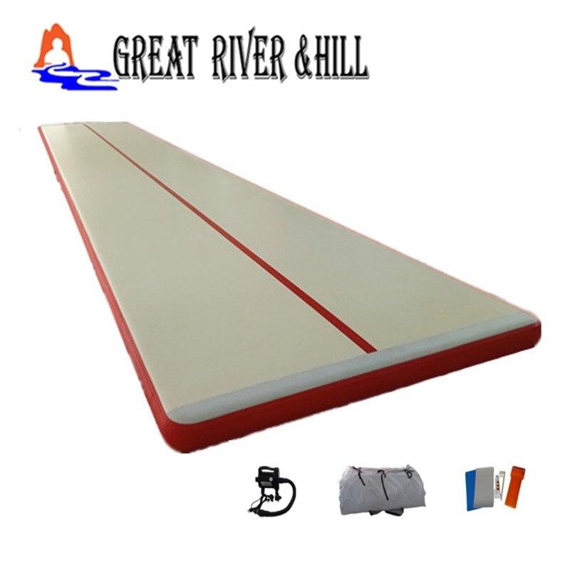 Pompe libre de tapis de gymnastique de plancher d'air gonflable de 10 m x 1.8 m x 0.1 m