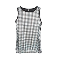 New Fashion Men's Silver Tank Tops Nightclub bar male singer DJ show Vest costumes Stage dancer performance accessories