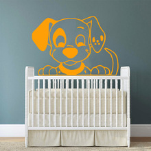 Creative dog Wall Sticker Self Adhesive Vinyl Waterproof Wall Art Decal For Children's Room Removable Decor Wall Decals vodool creative wall blackboard sticker vinyl removable self adhesive children early education decor stationery office supplies